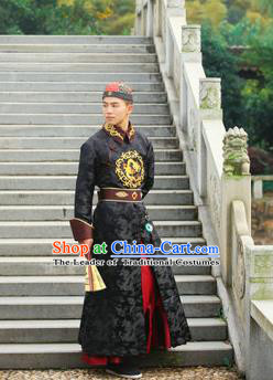 Traditional Ancient Chinese Qing Dynasty Imperial Prince Robes, Qing Dynasty Manchu Imperial Emperor Costumes for Men