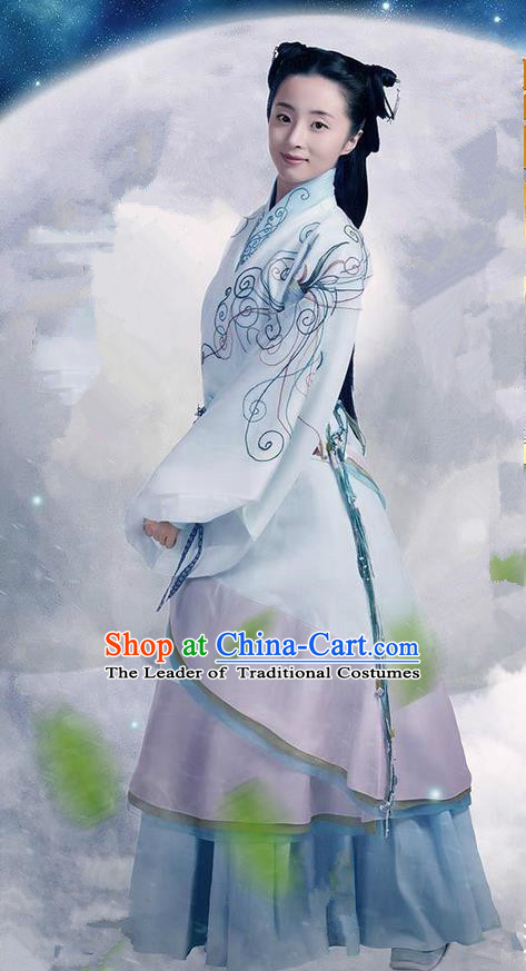 Traditional Ancient Chinese Imperial Emperess Costume, Chinese Qin Dynasty Young Lady Dress, Cosplay Chinese Imperial Princess Hanfu Clothing for Women