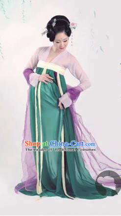 Traditional Ancient Chinese Imperial Emperess Costume, Chinese Han Dynasty Dress, Cosplay Fairy Tale Chinese Peri Imperial Princess Clothing for Pregnant Women