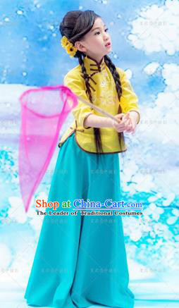 Traditional Ancient Chinese Imperial Princess Costume, Chinese Republic of China Children Dress, Cosplay Chinese Princess Clothing for Kids