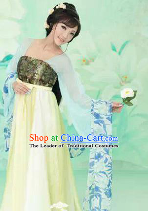 Traditional Ancient Chinese High-Grade Imperial Consort Costume, Chinese Han Dynasty Lady Elegant Dress, Cosplay Chinese Imperial Princess Clothing Hanfu for Women