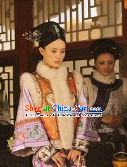 Qing Dynasty Zhen Huan Legend Costumes Clothing for Ladies