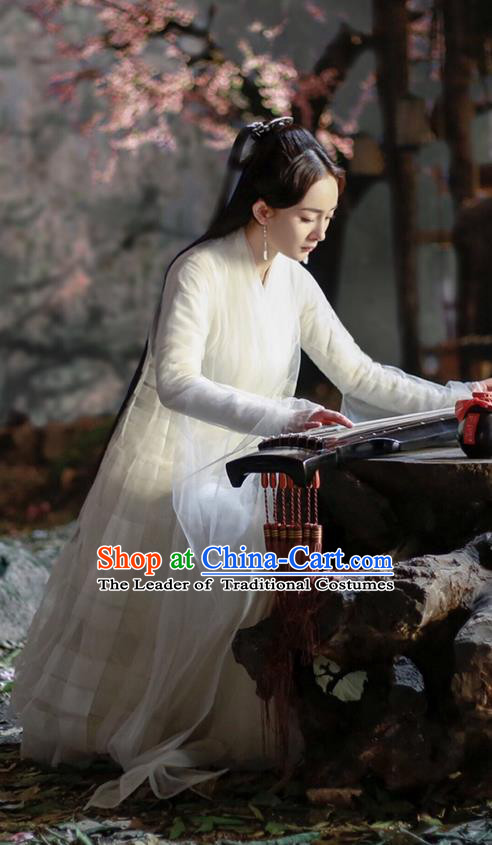 Traditional Ancient Chinese Elegant Costume, Chinese Han Dynasty Young Lady Dress, Cosplay Ten Great III of Peach Blossom Fairy Chinese Peri Imperial Princess Hanfu Clothing for Women