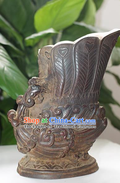 Traditional Chinese Miao Nationality Crafts Decoration Accessory, Hmong Handmade Exorcise Evil Phoenix Ornaments, Miao Ethnic Minority Adornment