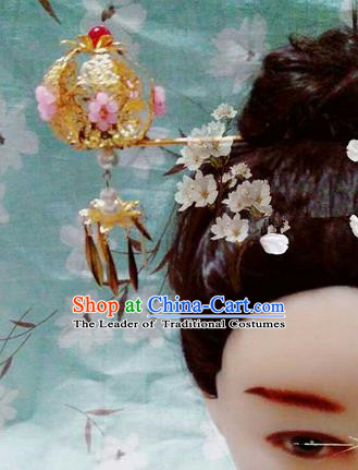 Traditional Handmade Chinese Ancient Classical Hair Accessories Step Shake, Han Dynasty Barrettes Hairpin, Hanfu Hair Sticks Hair Jewellery, Hair Fascinators Hairpins for Women