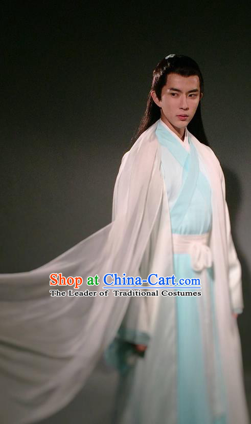 Traditional Chinese Ancient Nobility Childe Costumes, Ancient Chinese Cosplay Teleplay Ten great III of peach blossom Role Swordsmen Roayl Prince Costume Complete Set for Men