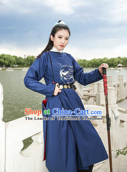 Traditional Chinese Ancient Hanfu Jiang Hu Swordsman Tang Dynasty Imperial Bodyguard Costume for Women for Men