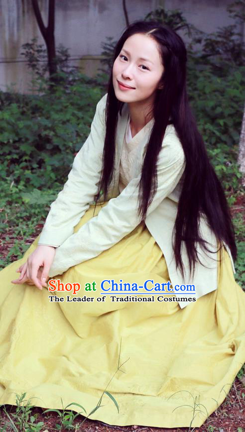 Traditional Ancient Chinese Elegant Female Swordsman Costume, Chinese Ancient Heroine Dress, Cosplay Chinese Emprise Film Sword Master Chivalrous Expert Chinese Ming Dynasty Kawaler Hanfu Clothing for Women