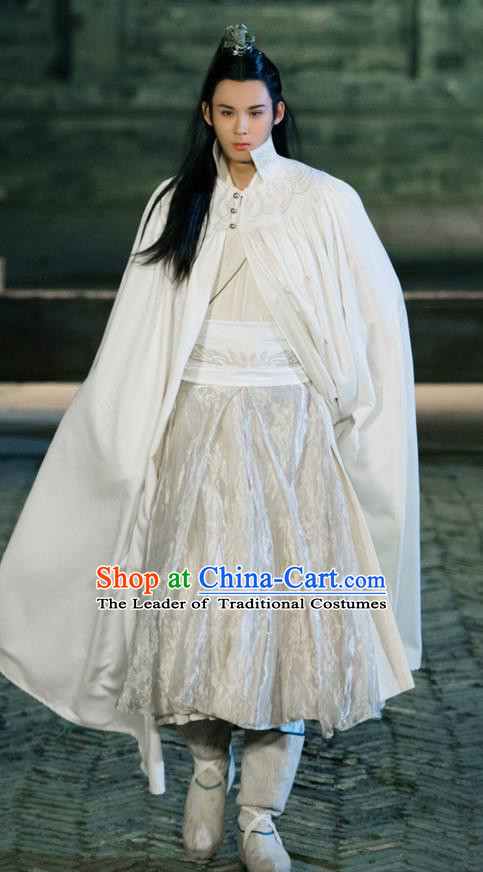 Traditional Ancient Chinese Elegant Swordsman Costume, Chinese Nobility Childe Dress, Cosplay Chinese Television Drama Alegend Of Pringess Lanling Chinese Northern Dynasty Prince Hanfu Clothing for Men