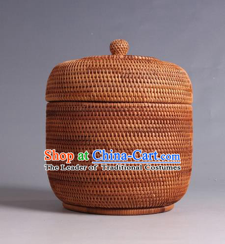 Top Asian Vietnamese Traditional Rattan Plaited Articles, Vietnam Tea Caddy Handicraft Candy Canister