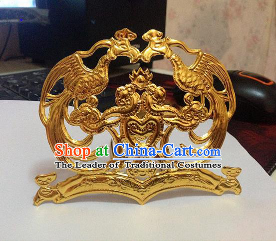 Traditional Chinese Ancient Classical Handmade Imperial Consort Hairpin Phoenix Coronet Hair Ornaments Jewelry Accessories Hanfu Classical Hair Crown for Women