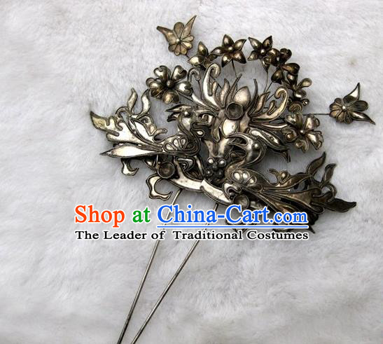 Traditional Handmade Chinese Ancient Classical Hair Accessories Bride Wedding Barrettes Hair Sticks, Hair Fascinators for Women