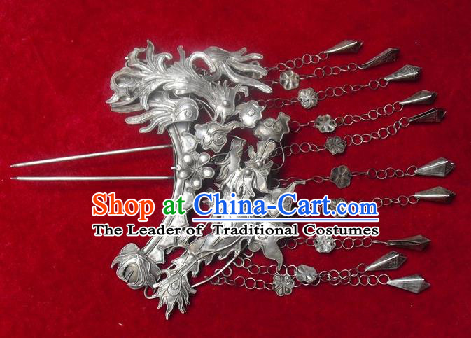 Traditional Handmade Chinese Ancient Classical Hair Accessories Barrettes, Palace Lady Tassel Hairpin Step Shake Hair Sticks for Women