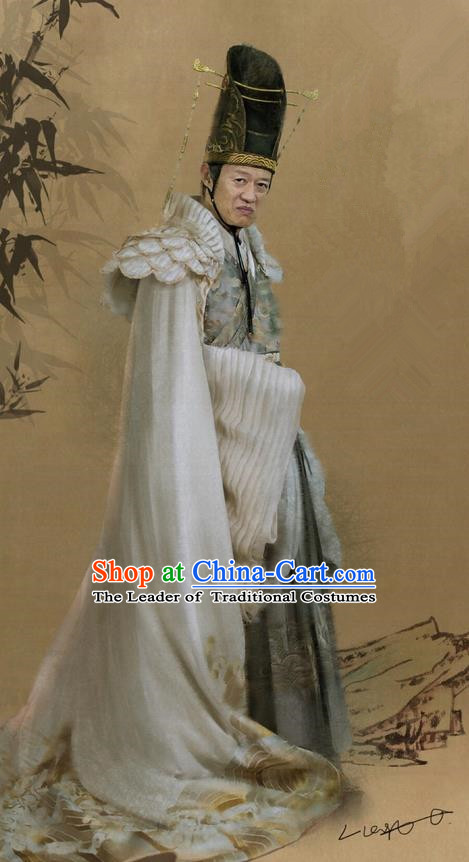 Traditional Ancient Chinese Dong Chang Court Eunuch Costume, Films Brotherhood of Blades Chinese Ming Dynasty Eunuch Clothing and Handmade Headpiece Complete Set