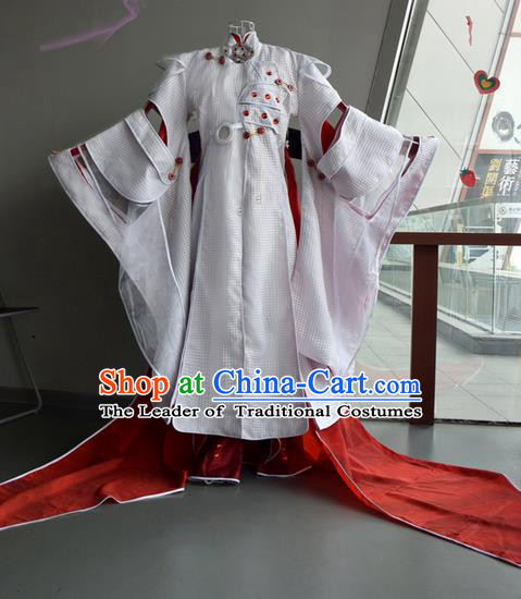 Top Grade Traditional China Ancient Cosplay Costumes, China Ancient Young Childe Robe Elegant Hanfu Clothing for Men
