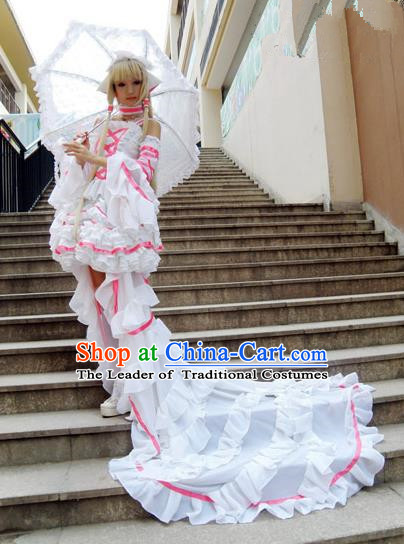 Top Grade Traditional China Ancient Cosplay Costumes, China Ancient Young Lady Full Dress for Women