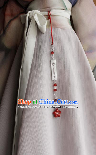 Top Grade Traditional China Ancient Palace Jade Accessories Pendant, China Ancient Swordsman Bells Beads Tassel Waist Pendant