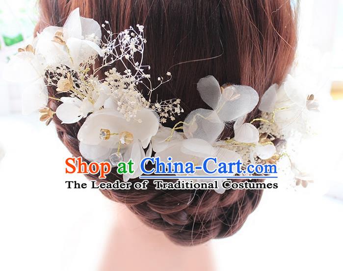 3f22385f0dbbf Top Grade Handmade Wedding Bride Hair Accessories Hair Stick ...