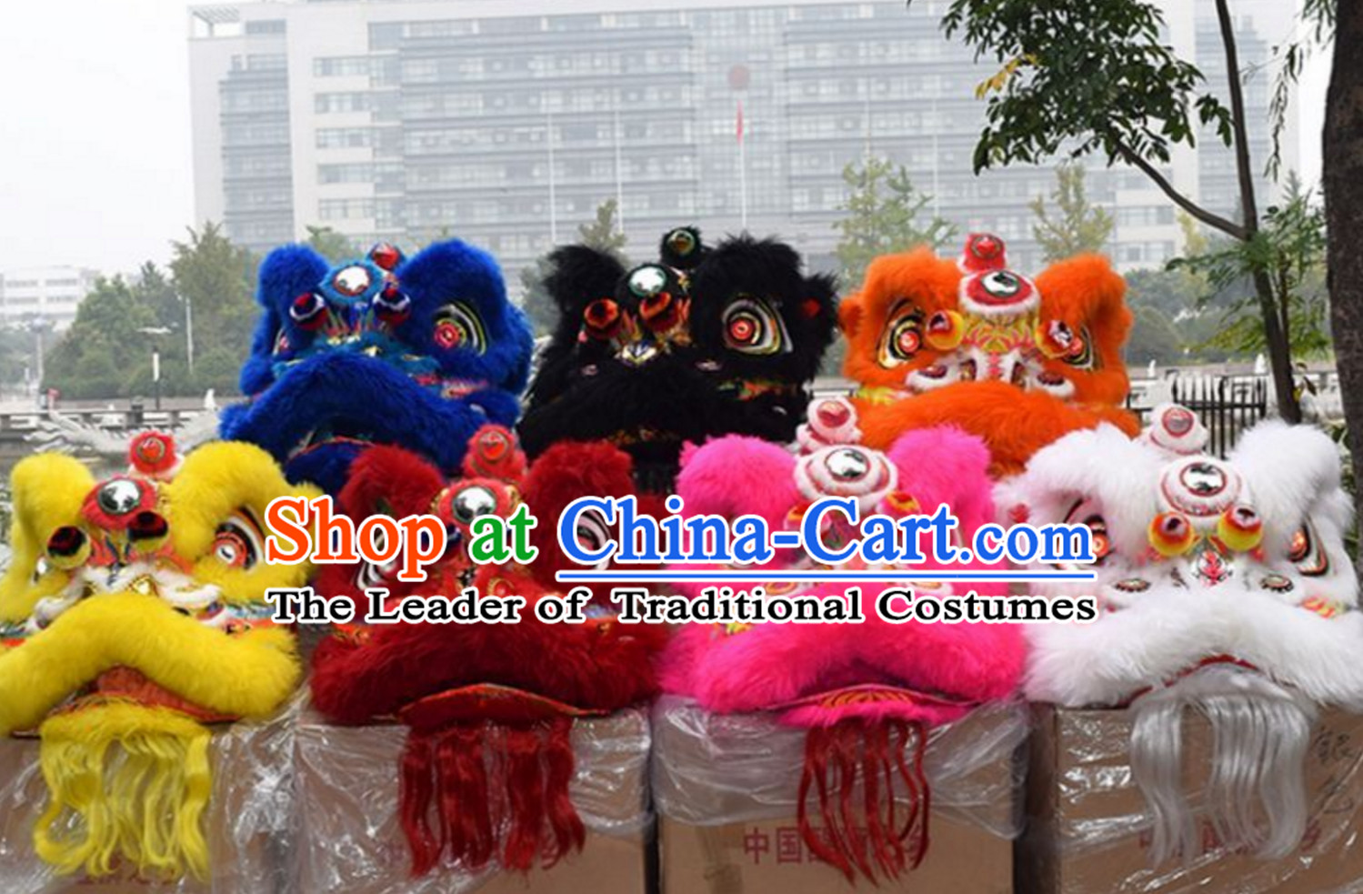 Top Yellow Lion Dance Equipment Complete Set Set for Big Events and Festivals