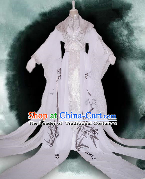 Traditional Chinese Cosplay Nobility Childe Costume, Chinese Ancient Hanfu Tang Dynasty Immortal Dress Clothing for Men