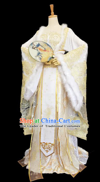 Traditional Chinese Tang Dynasty Palace Lady Costume, Elegant Hanfu Clothing, Chinese Ancient Imperial Consort Embroidered Dress for Women