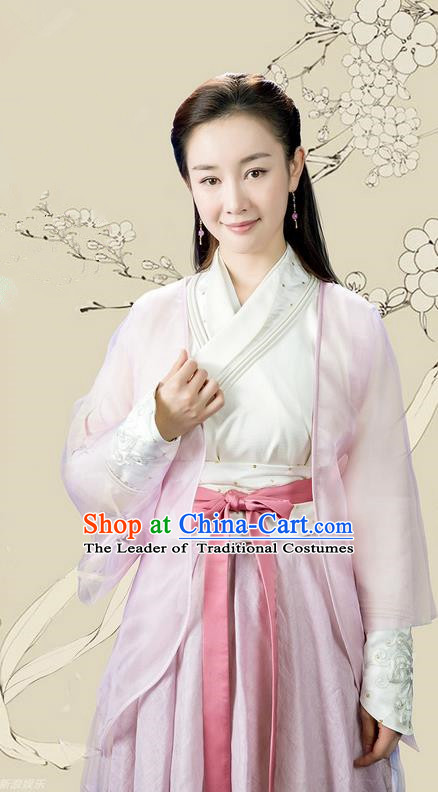 Traditional Ancient Chinese Young Lady Costume and Handmade Headpiece Complete Set, China Song Dynasty Imperial Princess Embroidered Dress Clothing