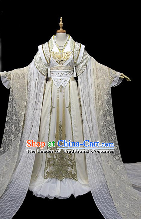 Traditional Ancient Chinese Female Embroidered Costume, Chinese Han Dynasty Imperial Concubine Dress Hanfu Clothing for Women