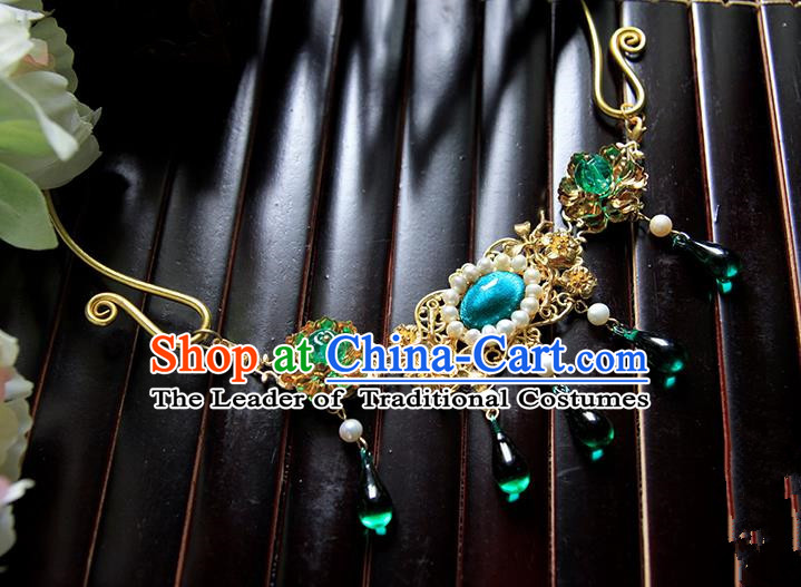 Top Grade Handmade Traditional China Jewelry Accessories Necklace, Ancient Chinese Hanfu Tassel Collar Decorations for Women