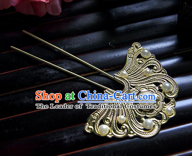 Top Grade Handmade Traditional China Hair Accessories Hair Stick, Ancient Chinese Hanfu Pearl Hairpins for Women