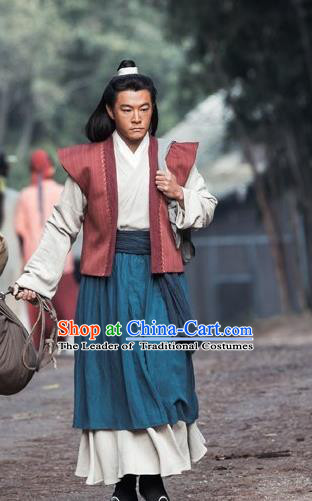 Traditional Asian Chinese Ancient Song Dynasty Commoner Costume, China Elegant Hanfu Clothing Bao Zheng Scholar Clothing