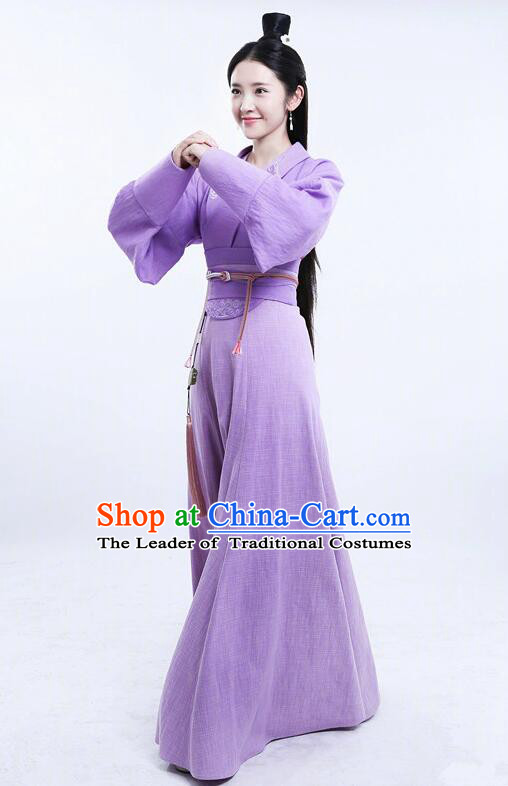 Asian Chinese Traditional Three Kingdoms Imperial Princess Costume and Headpiece Complete Set, The Advisors Alliance China Elegant Hanfu Young Lady Embroidery Dress Clothing