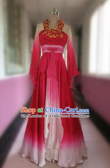 Traditional Ancient Chinese National Dance Costume, Elegant Hanfu China Flying Dance Dress Clothing for Women