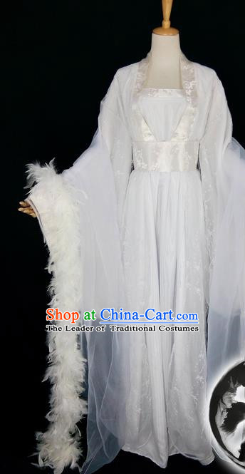 Asian Chinese Traditional Cospaly Han Dynasty Empress Costume, China Elegant Hanfu Peri Princess Clothing for Women