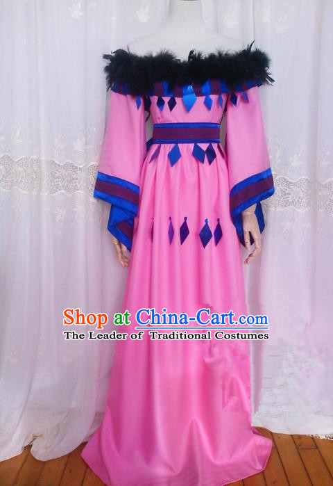 Asian Chinese Traditional Cospaly Princess Costume, China Elegant Hanfu Palace Lady Dress Clothing for Women