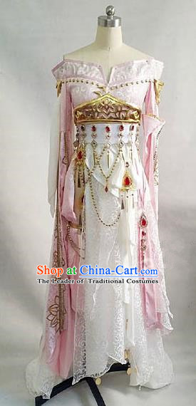 Asian Chinese Traditional Cospaly Costume Customization Tang Dynasty Palace Lady Dance Costume, China Elegant Hanfu Princess Dress Clothing for Women