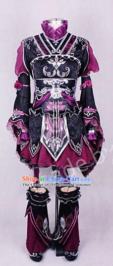 Asian Chinese Traditional Cospaly Customization Young Lady Costume, China Elegant Hanfu Knight-errant Swordswoman Embroidered Clothing for Women
