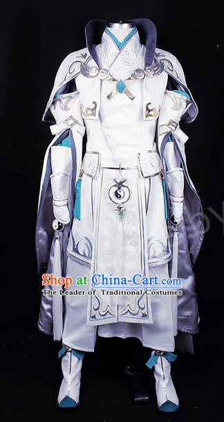Asian Chinese Traditional Cospaly Costume Customization Swordsman Costume, China Elegant Hanfu Prince Clothing for Men