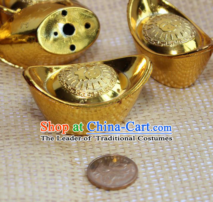 Asian Chinese Photography Props Ancient Gold Ingot