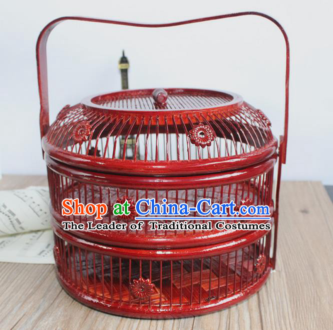Asian Chinese Photography Props Traditional China Crafts Ancient Cabas Hamper