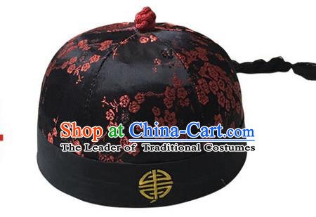 Asian Chinese Photography Film Props Traditional China Ancient Manchu Prince Hat