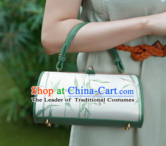 Traditional Handmade Asian Chinese Element Clutch Bags Shoulder Bag National Printing Dragonfly Handbag for Women