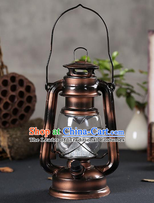 Asian Chinese Photography Film Props Traditional China Ancient Kerosene Lamp Barn Lantern