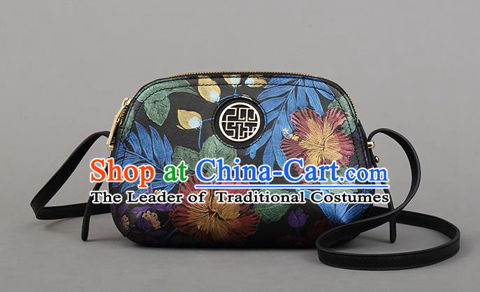 Traditional Handmade Asian Chinese Element Clutch Bags Messenger Bag National Knurling Handbag for Women