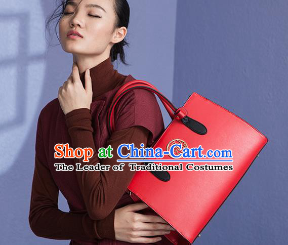 Traditional Handmade Asian Chinese Element Red Clutch Bags National Bride Wedding Handbag for Women