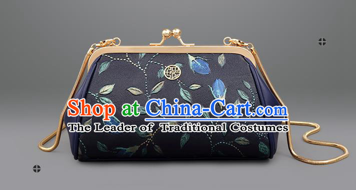 Traditional Handmade Asian Chinese Element Embroidered Clutch Chain Bags National Evening Dress Handbag for Women