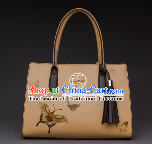 Traditional Handmade Asian Chinese Element Printing Butterfly Clutch Bags National Evening Dress Handbag for Women