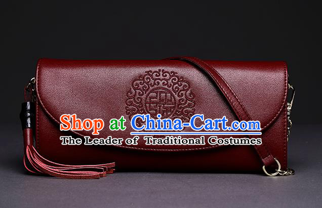 Traditional Handmade Asian Chinese Element Clutch Bags Shoulder Bag National Embroidery Handbag for Women