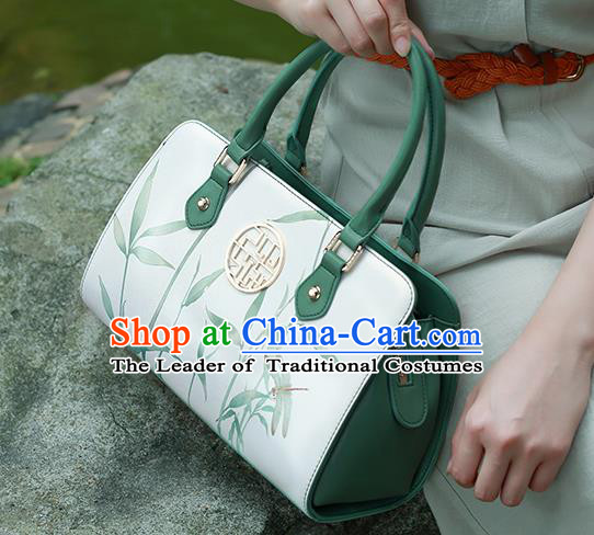 Traditional Handmade Asian Chinese Element Printing Dragonfly Clutch Bags Shoulder Bag National Handbag for Women