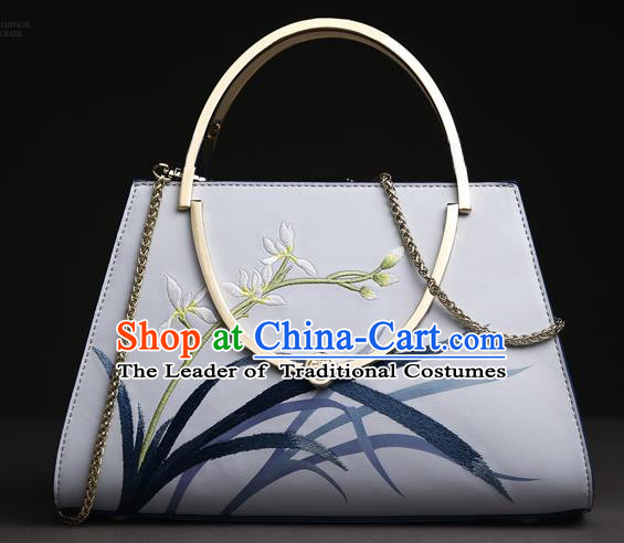 Traditional Handmade Asian Chinese Element Clutch Bags Embroidery Bag National Handbag for Women