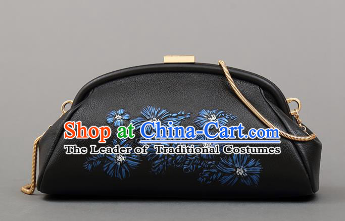 Traditional Handmade Asian Chinese Element Clutch Bags Shoulder Bag National Embroidery Evening Dress Handbag for Women